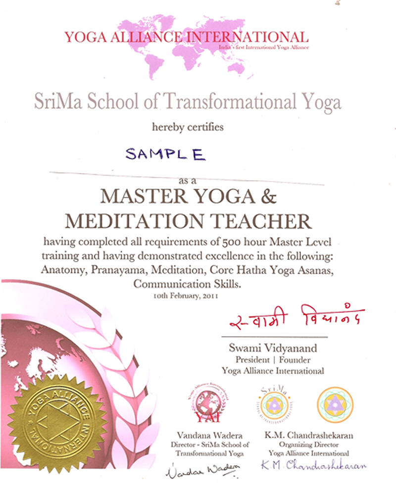 Yoga Alliance Europe Certified Teacher Training